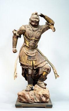 National Treasure of Japan, Bikara standing statue, Kamakura period Kamakura Period, Japanese Mythology, China Art, National Treasure, Buddhist Art, Japan Art, Japanese Artists, Japanese Culture, Sculpture Art