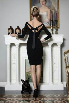 Black & Elegant...#black dress #LBD #black