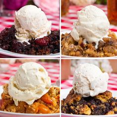 You can make four different flavors of this easy skillet cobbler! These Easy Skillet Cobblers Are The Perfect Spring-Time Desserts Easy Desserts, Delicious Desserts, Dessert Recipes, Yummy Food, Fruit Recipes, Recipies, Tasty Videos, Food Videos, Snacks