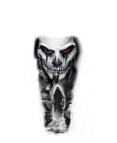 Evil Tattoos, Creepy Tattoos, Badass Tattoos, Leg Tattoos, Body Art Tattoos, Dark Tattoos For Men, Celtic Tattoos For Men, Black And Grey Tattoos, Tattoo Lettering Design