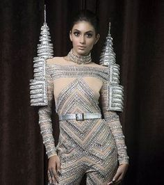 LOOK: Miss Malaysia will don the Petronas Twin Towers as national costume World Congress, Twins, Tower, Bodysuit, Glamour, Costumes, Dinner, Lifestyle, Fashion