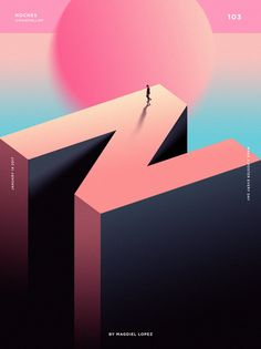 Cool Illustration with nice palette . Graphic Design . Gradients .