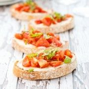 Tomato Bruschetta with Ricotta and Basil {Sweet Pea's Kitchen}
