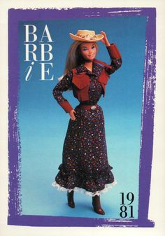 "Barbie Collectible Fashion Card "" Westward HO "" 1981 