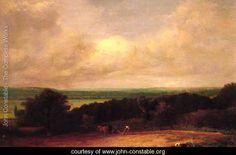 Landscape Ploughing Scene In Suffolk - John Constable - www.john-constable.org