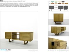 Modern Furniture - DoubleButter - EC2 ENTERTAINMENT CREDENZA