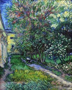 "Vincent van Gogh - The Garden of Saint Paul Hospital - 1889  ""I shouldn't precisely have chosen madness if there had been any choice, but once such a thing has taken hold of you, you can't very well get out of it."" Vincent van Gogh"