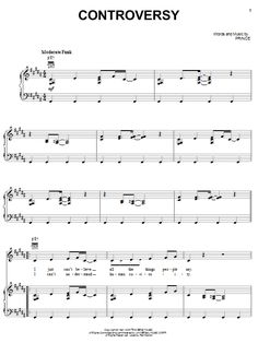Prince Controversy Sheet Music