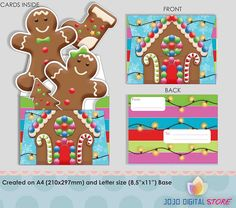 Editable Gingerbread House invitations for Gingerbread house