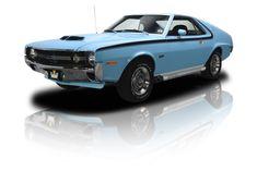1970 AMC AMX Restored Investment Grade Big Bad Blue AMX 390 Ram Air V8 Go Package Leather