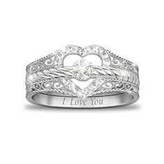 Purity ring for my girls?   Three separate rings, all say I love you.   (Parents, God & Future spouse?)