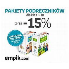 Niektórzy się cieszą na koniec szkoły, a niektórzy, że wkrótce do niej pójdą :) I dla tych drugich własnie na empik.com do 7 lipca podręczniki dla klas I-III w obniżonych cenach :)