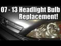 "change low beam bulb for ""2007 honda crv"" -accord - Bing video"