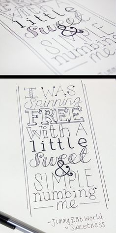 Typography - Quotes by Robynn L. Gardner, via Behance