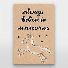 always believe in unicorns   Einhorn   Handlettering von Gelbkariert - über artboxone.de