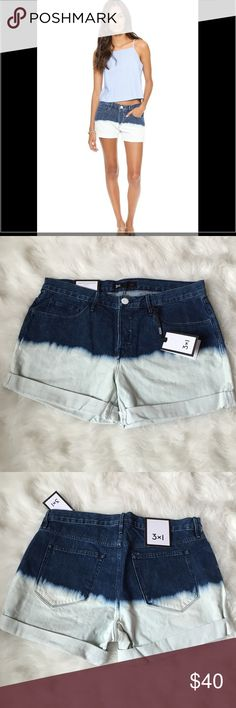 🆕🎁 3x1 Perry Denim Shorts Brand new, never worn! 3x1 Perry rolled cuff denim shorts. Awesome dip dye coloring! Looser/baggy fit. 3x1 Shorts
