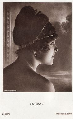 https://flic.kr/p/RATXnZ | Liane Haid | German postcard by Photochemie, Berlin, no. K. 2377. Photo: Willinger, Wien. Prima ballerina, dancer, singer and actress Liane Haid (1895-2000) was the first film star of Austria. She was the epitome of the Süßes Wiener Mädel (Sweet Viennese Girl) and from the mid 1910s on she made close to a hundred films. For more postcards, a bio and clips check out our blog European Film Star Postcards Already over 4 million views! Or follow us at Tumblr or…