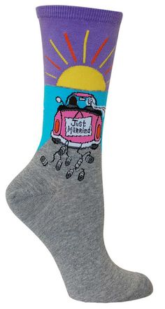 Cupcake women/'s soft bamboo crew socks in orchidThought