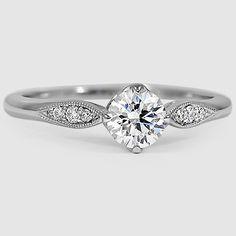 18K White Gold Jolie Diamond Ring