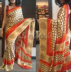 Code:2806150 Printed Crape Silk Saree - Price Rs.7950/-
