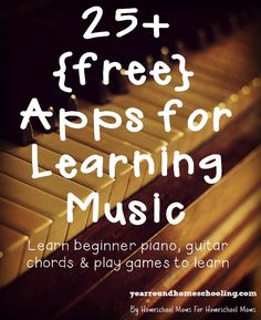 Make learning fun with awesome apps!! Year Round Homeschooling is sharing 25+ free apps for learning music. Head on over to her blog f...