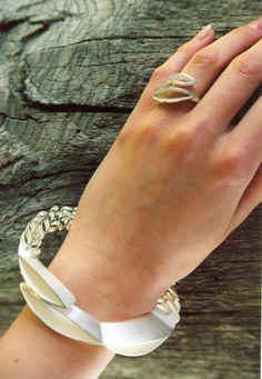 Bracelet & Ring | Lina Varna.  Silver