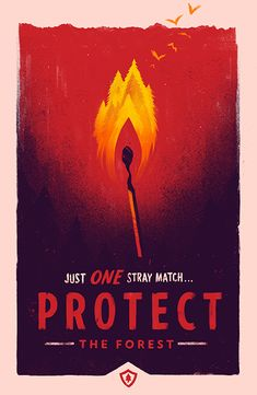 firewatch poster by olly moss