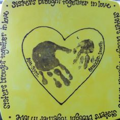 family handprint - each a different color on top of each other.