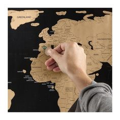 World scratch map - 80x45 cm | Xenos