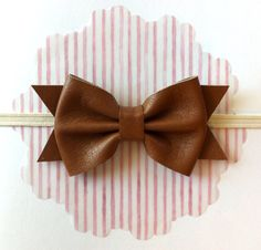 Leather Hair Bow... #TLSFFavthings