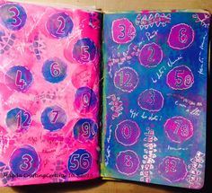 Dylusions Paints, journaling page
