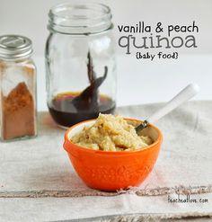 teach. eat. love.: Vanilla & Peach Quinoa