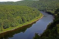 Delaware River as seen from Hawk's Nest - Rte. 97, NY