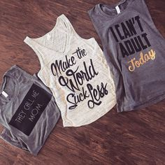 Ladies statement tees by mamabearapparel on Etsy