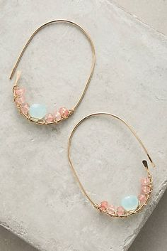 Add a statement to your look with earrings from Anthropologie. Discover our collection of unique hoop, drop, chandelier, cluster and post earrings for women. Bohemian Jewelry, Wire Jewelry, Jewelry Box, Jewelry Accessories, Handmade Jewelry, Jewelry Design, Jewelry Making, Jewellery, Unique Earrings
