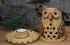Keramická sova - svícen, lampa / Zboží prodejce malina11 | Fler.cz