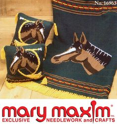 Knit this afghan using Mary Maxim Worsted Weight yarn.