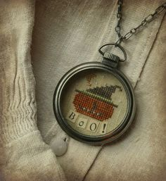 Boo Pocket Watch Necklace...ebay auction