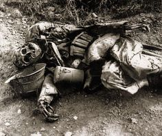Just one of the thousands of unknown dead left to rot on the battlefields of WWI