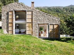 I do believe that this home is by far...my FAVORITE!!  I would LOVE to convert a stone barn one day!!!  old stone barn converted to house spain countryside country farm stable modern decor