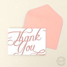 Bring some elegance to your thank you cards with the Scripted suite!   Wedding Invitations by CharmCat Stationery & Design