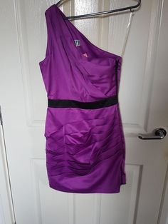 Lipsy Purple one shoulder dress Size 10 in Clothes, Shoes & Accessories, Women's Clothing, Dresses | eBay!