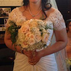 Bride made her own charm vintage wedding