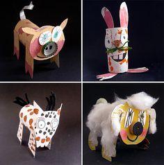 Animals de cartró by Fem Manuals!, via Flickr
