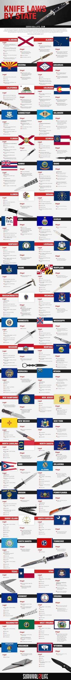 Find out if switchblades are legal in your state. We've listed knife laws by state for switchblades, butterfly knives & other knives for all 50 states.