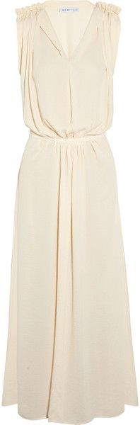 See By Chloé Beige Ruched Georgette Maxi Dress