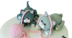 cats Handmade edible cake topper Birthday cake decoration #MarysSweetdesign #Animals