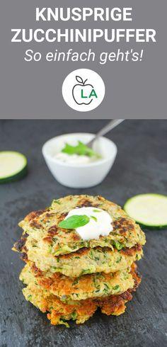 Zucchini Buffer Recipe - Low Calorie, Low Fat and Healthy - J .-Zucchini-Puffer-Rezept – kalorienarm, fettarm und gesund – Joel&GesundeRezepte Zucchini buffer recipe low-calorie low-fat and healthy Joel & Healthy recipes - Veggie Recipes, Lunch Recipes, Vegetarian Recipes, Healthy Recipes, Vegetarian Diets, Salad Recipes, Dinner Recipes, Cooking Recipes, Zucchini Puffer