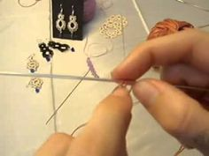 Needle Tatting How To: single tatted ring - YouTube