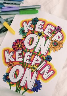 Ideas trippy art drawing doodles fun for 2019 Marker Kunst, Marker Art, Art Sketches, Art Drawings, Quote Drawings, Schrift Design, Aesthetic Painting, Hippie Art, Painted Doors